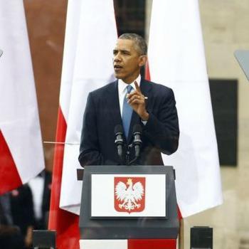 Obama over Polen